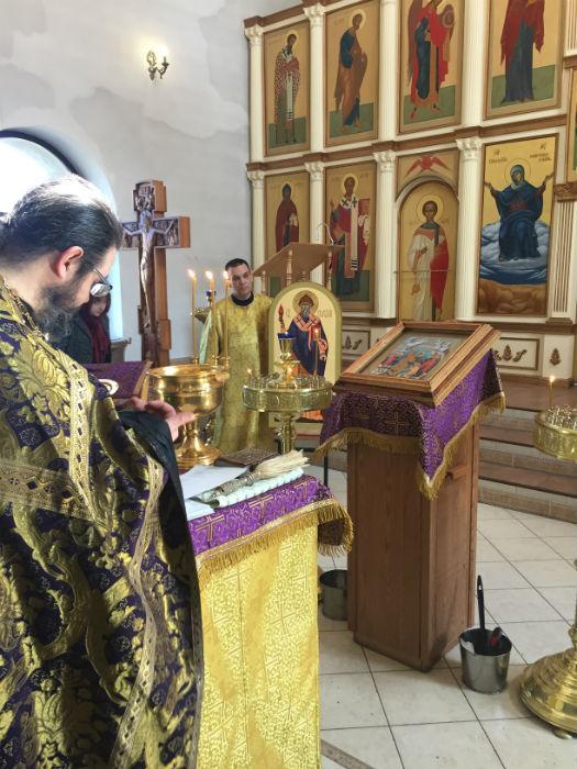 Освящение новых икон в нашем храме
