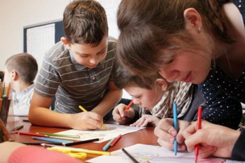 Урок в детской воскресной школе