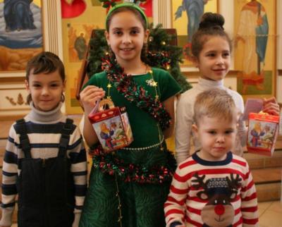 Праздничный Рождественский концерт детской воскресной школы 2019 год