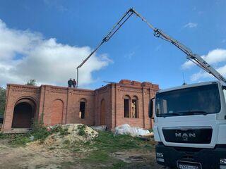 Строительство храма Пантелеимона